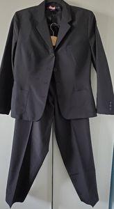 Ralph Lauren Collection black silk pants suit